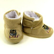 LSU Tigers Louisiana State Infant Baby Booties Slippers Soft Fur Like Lining