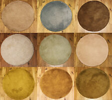 NEW 3CM THICK PILE LUXURIOUS NON SHEDDING SOFT AND DURABLE CIRCLE RUGS 80 x 80CM