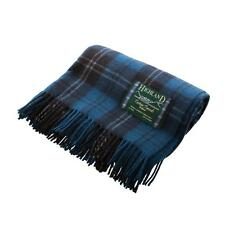 Scottish Tartan All Wool Travel Blankets Rug Very Warm Great Feel And Quality