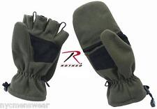 OLIVE DRAB SNIPER GLOVES FINGERLESS WITH RETRACTABLE MITTEN TOP