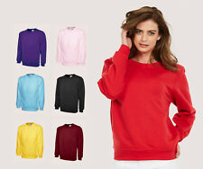 Ladies Classic Plain Sweatshirts Size 6 to 30 / XS to 4XL - NEW SWEATSHIRT 203