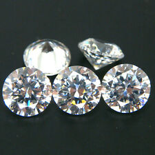 Round 1mm to 10mm White Cubic Zirconia Stone IF Grade Korean CZ Lot Free Shippin