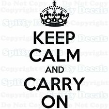 KEEP CALM AND CARRY ON Crown Quote Vinyl Wall Decal Decor Sticker Lettering Art