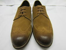 Clarks 'Greenwhich Man' Tan Suede Mens Brogue Shoes G Fitting