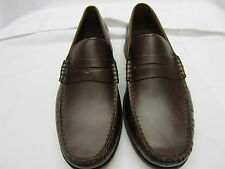 SALE Clarks 'Quay Point' Mahogany Leather Mens Slip On Shoes G Fitting