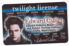 Pick Edward Cullen Kevin Jonas Gene Simmons or McLovin Plastic Collectors Card
