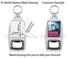 Blank Photo BOTTLE OPENER KEYRINGS. Free Delivery.All Quantities. Acrylic Clear