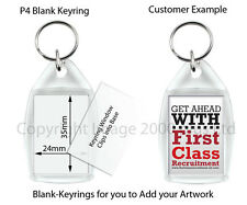 Blank Photo Keyring Magnets Coasters 5 10 20 Clear Large Passport Square Round