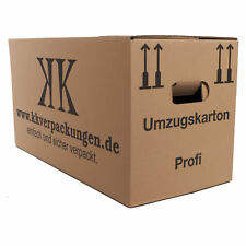 UMZUGSKARTONS UMZUG KARTON 2-WELLIG! DOPPELTER BODEN TOP MIT OPTION