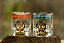 Clan Crested Tartan Whisky Glass New