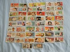 BROOKE BOND TEA CARDS:FAMOUS PEOPLE:BUY INDIVIDUALLY NO's 1 - 25