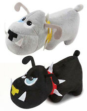 Zanies Plush Dog Toy Tough Dog Squeaky Dog Toy black gray plush squeaker