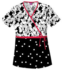 Scrubs Cherokee Print Top Big Minnie  6625C MKBM    Buy 3 Ship $6