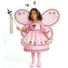 Halloween Cupcake Sweet Fairy Pink Girl Dress Up Kids Costume Set Pageant Outfit
