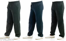 Mens Jogging Fleece Bottoms Joggers Casual Fitness Trousers Pants Zip Pockets