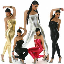 Gogo Bandeau Overall glänzend 32 34 36 Club Wear Dance Party Wetlook Anzug