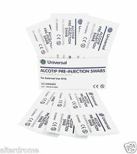 UHS ALCOHOL CLEANSING SWABS PADS - PRE  PIERCING - CHOOSE QTY!