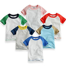 "NWT Vaenait Baby Toddler Kid's Unisex 6 Colors Raglan T-Shirts"" Rainbow Raglan """