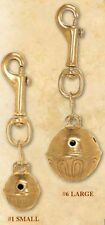 Solid Brass Hiker bear harness hame sleigh buggy Bell in two (2) sizes & colors