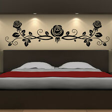 Three Rose Buds With Floral Decoration Wall Stickers Wall Art Decal Transfers