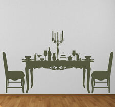 Dining Table and Chairs Table Contents Wall Stickers Wall Art Decal Transfers