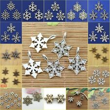Free-shipping multi-STYLES assorted Christmas snowflake charms