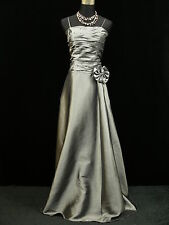 Cherlone Satin Grey Long Prom Ball Sparkle Wedding/Evening Bridesmaid Gown Dress