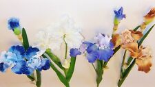 """ONE 30"""" HANDWRAPPED BEARDED IRIS SPRAY WITH 2 BLOOMS & 1 BUD CHOICE OF 4 COLORS"""