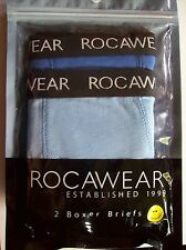 Roca Wear Boys Underwear 2 Boxer Briefs Sz  XS, S, M, L, XL Blue   NIP