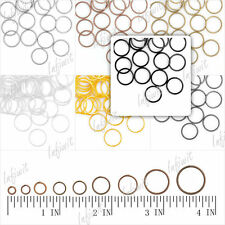 Wholesale 7 Colors Silver Bronze Copper Gold Black Round Open Jump Rings 4-14mm