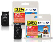 2 Remanufactured Jettec PG-510 / CL-511 Ink Cartridges for Canon Pixma Printers