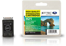 Remanufactured Jettec HP21 Black Ink Cartridge for DeskJet 2128 & more