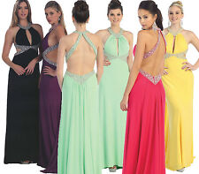 9 COLORS Sexy Long Ball Gown Dress Party Gala Prom Evening Pageant Cokctail 2-16