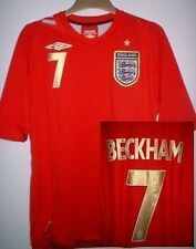 England BECKHAM 2006-08 Football Soccer Shirt Jersey Uniform UMBRO S M L XL XXL