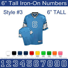 "6"" Tall Iron-On Number for Sports Jersey T-Shirt (Single Numbers 0-9) Style #3"