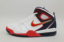 Nike Mens Air Flight Falcon Shoes NEW White Sport Red Mid Navy 397204-168