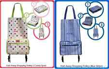 FOLDING FOLDABLE SHOPPING TROLLEY BAG ON/WITH WHEELS LIGTWEIGHT FOLD UP LUGGAGE