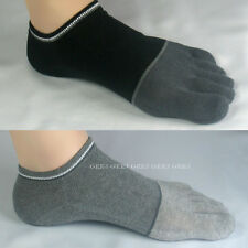 Socks 5Pairs Men's Toe Low-cut Ankle No-show fake Finger shoes middle