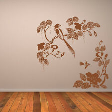 Birds Flowers Corner Floral Animal Wall Art Sticker Wall Decal  Transfers