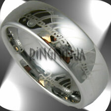 Silver Elvish Tungsten Laser Etched One Ring Size Size 4-15 lotr wedding band