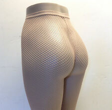 Pantyhose Fishnet Lycra Spandex Nude or White or Red Seamless Tights LA 9013