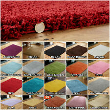 SMALL - EXTRA LARGE THICK 5cm PILE PLAIN SOFT NON-SHEDDING SHAGGY RUGS