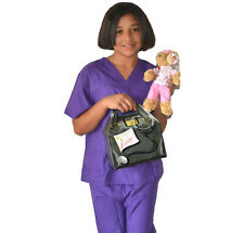 Kids Doctor Costume with REAL Scrubs, Scrubs Bear and Doctor Bag
