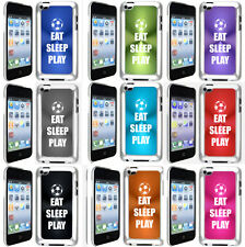 Apple iPod Touch 4th Generation Hard Case Cover EAT SLEEP PLAY Soccer