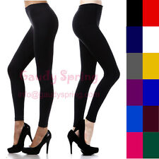 Solid Full Length Seamless Stretch Footless Stockings Long Tights Pants Leggings