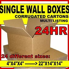 SINGLE WALL Cardboard Postal Corrugated Boxes Cartons *ALL SIZES & QTYS*
