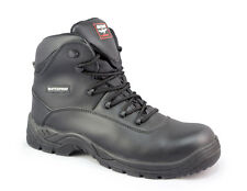 WORKFORCE AIRSAFE AS C4 WATERPROOF COMPOSITE TOE LEATHER SAFETY WORK BOOTS Black