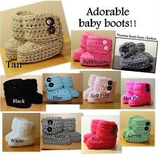Winter Wrap Around Crocheted Baby Boots / Booties