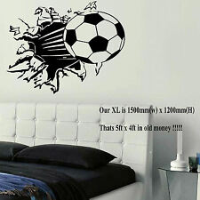 EXTRA LARGE FOOTBALL BALL WALL ART BEDROOM MURAL STICKER TRANSFER POSTER DECAL