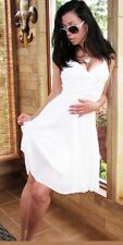 """""""Milliore"""" Sexy Winter White Pleated Shimmer Babydoll Padded Summer Dress S M L"""